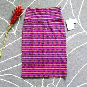 Lularoe Cassie Striped Mini Skirt